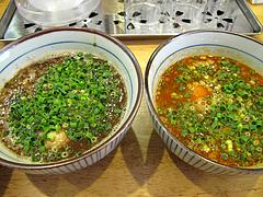 ランチ:つけ麺スープ2種@つけ麺・麺屋・光喜・福岡