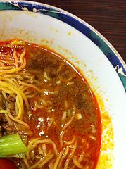 ランチ:坦々麺スープ中@中華万里・長浜鮮魚市場会館・福岡