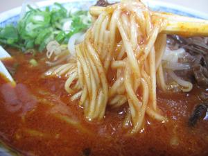21レッドラーメン麺@千龍ラーメン