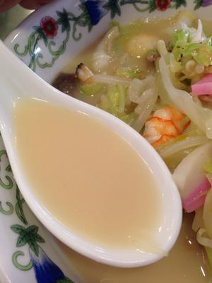 16特製什景湯麺スープ@江山楼中華街本店