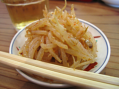 料理:ピリ辛もやし@ラーメン龍の家・春日下白水店