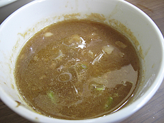 料理:博多つけ麺スープ割り1@博多麺業・島系・春吉店
