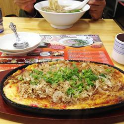15山芋鉄板(お好み焼風)700円@美野島亭