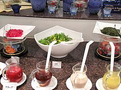 11ランチ:サラダコーナー・ドレッシング@ブルースター・タカクラホテル福岡