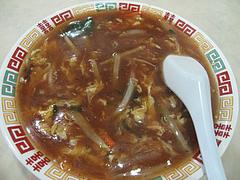 11ランチ:酸辣湯麺・サンラータンメン・スーラータンメン空撮@中国料理・徳福・博多区役所