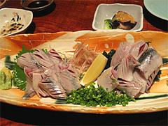 料理3:対馬の鰯(いわし)の刺身800円@和膳・松の湯・春日原