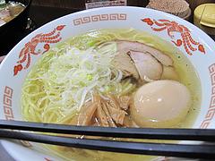 料理:塩ラーメン600円+味付き玉子70円@ラーメンさかえ・野間