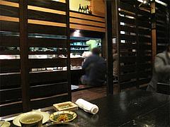 店内:カウンターとテーブル@平・大手門