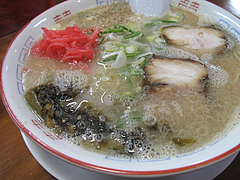 メニュー:辛子高菜ラーメン600円@麺屋多吉・ラーメン・大橋