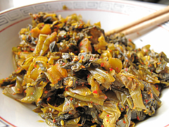 料理:古漬の辛子高菜@白雲軒・福岡