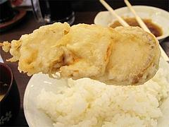 料理:ホタテ串の天ぷら150円@だるまの天ぷら定食・吉塚本店