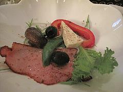 11ベーコンのステーキ@イタリアワイン会・福岡