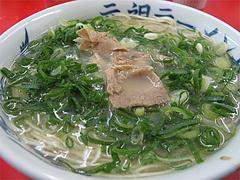 料理:ラーメン(カタ・ネギ多め)@元祖ラーメン長浜家
