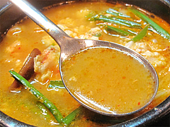 ランチ:スンデゥブ・チゲスープ@韓国家庭料理ソウル亭・高砂