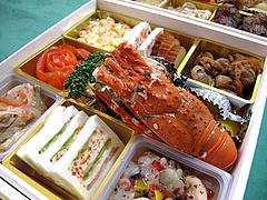 料理:斜め空撮@2011セントラルホテル福岡お節(おせち)・二の重