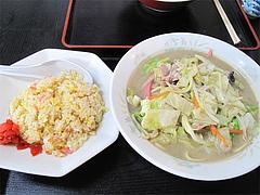 料理:チャンポンセット700円@香蓉軒・那珂川