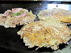 7ランチ:お好み焼の普通と大きめ@お好み焼き・ふきや・赤坂店