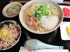 料理:ソーキそばセット680円@結の懸け橋・平尾