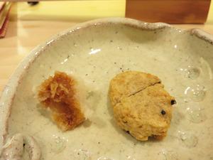 9そばがきの天ぷら@蕎麦切りかんべえ