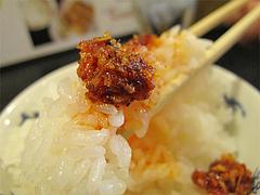 料理:食べるラー油と白ごはん@ラーメン壱屋・六本松