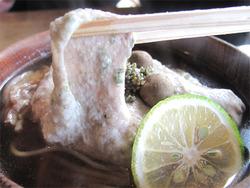 20自然薯と地鶏蕎麦(温)@蕎麦・文治郎