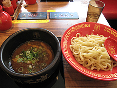 13ランチ:カレーつけ麺・太麺200g・850円@つけ麺・麺研究所・麺屋・慶史・大手門