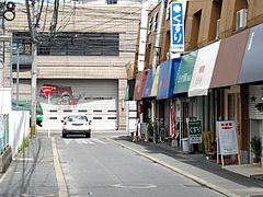 外観:お店のある通り@豚々拍子・笹丘
