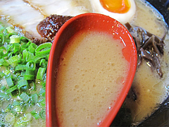 料理:白豚骨ラーメンスープ@拉麺空海・雑餉隈駅前店