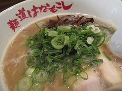 7ランチ:ラーメン全景@麺道はなもこし(花もこし)・薬院