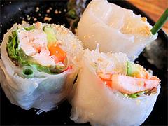 料理:ランチセットの生春巻@タイ屋台料理&ヌードル・オシャ