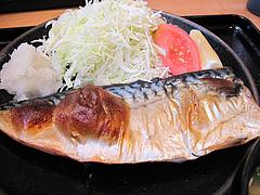 11ランチ:焼き魚定食は焼き塩鯖@日の出食堂・博多駅前