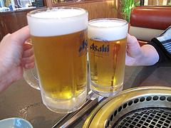 6夜:生ビールの中と小@焼肉スタミナ亭・清川