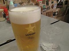 料理:生ビールと麦焼酎@長浜屋台やまちゃん福岡天神店