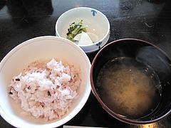 17ランチ:黒米ご飯・あおさ味噌汁@天ぷら・あきよし・室見