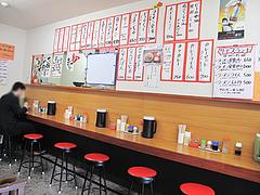 3店内:カウンター席@博多長浜ラーメン・ももち家・藤崎