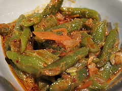 料理:いんげんカリー@スリランカ料理ポルポル・天神