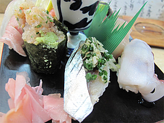 10メニュー:海鮮軍艦・〆鯖・蛸@鮨・あつ賀・渡辺通り