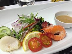 16宴会:留肴 魚貝の沙羅蛇 胡麻ドレッシング@観山荘別館・小倉・料亭