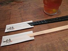 店内:割箸と店箸(つけ麺用すべりどめ)@一風堂・塩原本舗