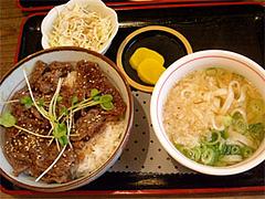 焼肉丼セット@うどん屋『麺やほり野』