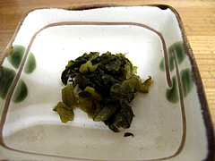 ランチ:高菜の漬物@柳橋連合市場・柳橋食堂