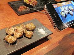 18鶏料理:鶏ホルモン炙り焼@焼鳥・sumiyaki燈(炭焼きあかり)・丸太町・京都