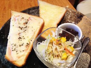 8ハムチーズトーストセット@万丸カフェ