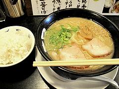 料理:豚骨らーめん+白ごはん500円@ラーメン壱屋・六本松