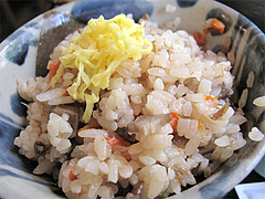 料理:ソーキそばセットのじゅーしー@結の懸け橋・平尾