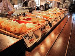店内:天ぷらコーナー@丸亀製麺・西月隈店