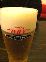 4居酒屋:スーパードライ・エクストラゴールド@心灯・みなと温泉・波葉の湯・ベイサイドプレイス博多