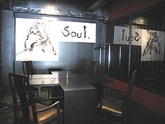 店内:奥のテーブル席@居酒屋・白金玄歩・薬院