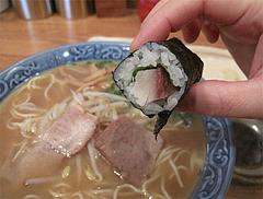 料理:細巻きとラーメン食べる@四方平・北九州小倉