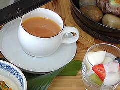 料理:スープとフルーツ@茶房わらび野